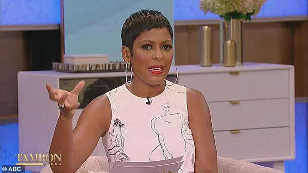 Straight to the point: Stacey also admitted in an interview that when she brought up Tamron the fact that she supported the All Lives Matter movement after condemning Oscar So White.