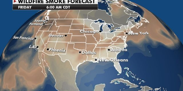 The smoke from the wildfires in the west will continue to blow in the east.