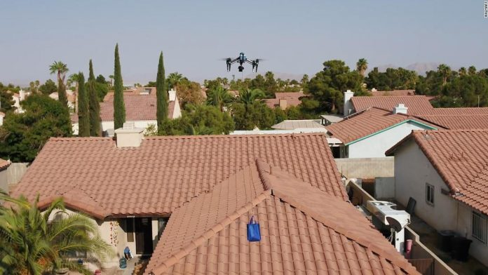 Walmart is using drones to deliver COVID-19 tests in Vegas