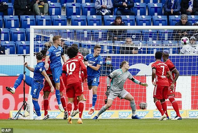 Ermin Bikakik (left) gives Hoffenheim a full start after scoring in the 16th minute.
