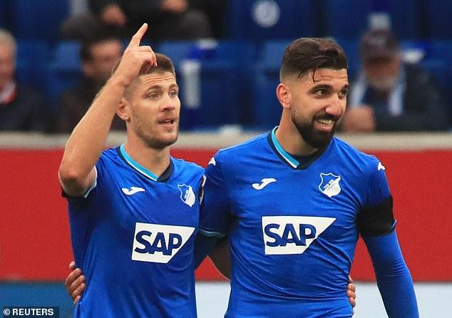 Andrej Kramerick and Munnas Dabur were both on the scoresheet for Hoffenheim on Sunday.