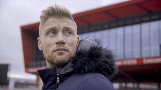 Warning: Bound for release on 22/09/2020 by 00:00:01 - Program Name: Freddie Flintoff: Living with Bulimia - TX: 28/09/2020 - Episode: Freddie Flintoff: Living with Bilimia (Number N / A) .) - Picture Show: Freddie at Lancashire Cricket Home Ground, Emirates Old Trafford Freddie Flintoff - (C) South Shore - Photographer: N / A