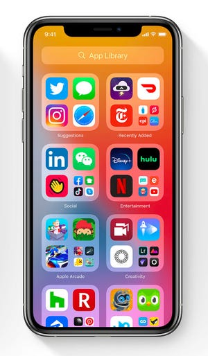 """iOS14 builds """"Application libraries"""" Of similar applications"""