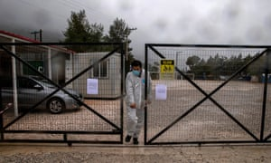 Authorities discovered a case of coronavirus after a coronavirus outbreak in Malacca, Greece on April 5, 2020, and placed one camp under quarantine.