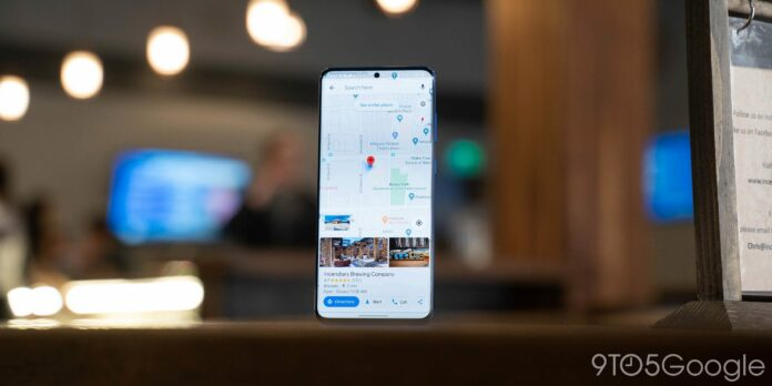 Google Maps is reading app-wide dark mode on Android