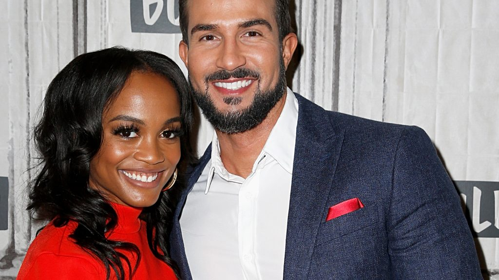 'The Bachelorette' stars Rachel Lindsay and Bryan Abasolo attend the Build Series to discuss 'The Bachelorette' at Build Studio on September 30, 2019 in New York City.