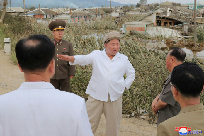Kif Jong Un fires a top official visiting the typhoon-hit areas