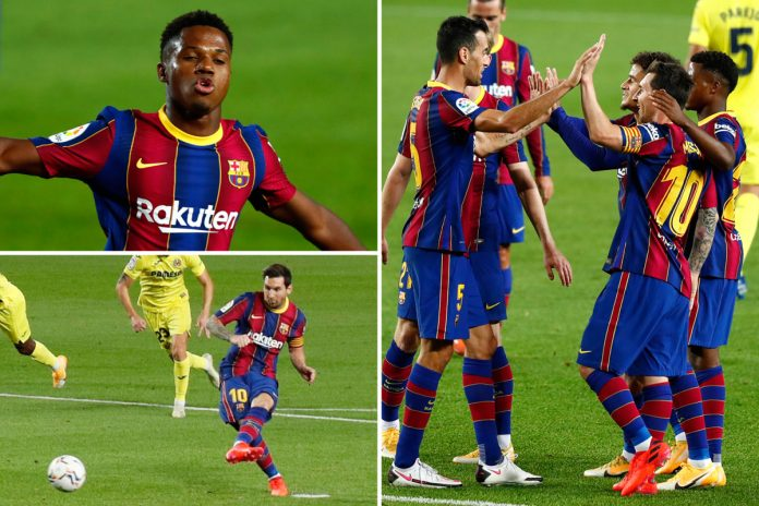Lionel Messi and Ansu Fatti guided Ronald Common to an early day win