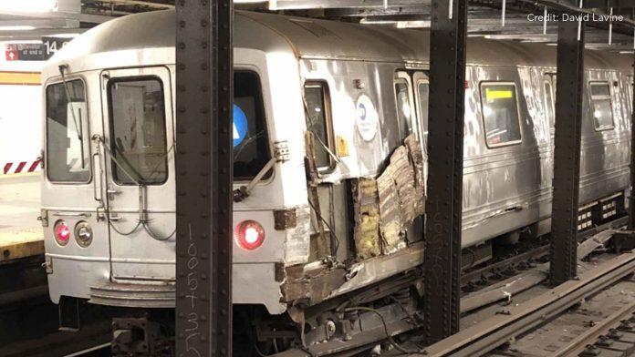 NYC subway crash: Northbound train derails after debris strikes station at Chelsea, Manhattan