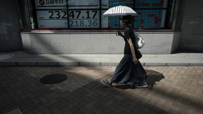 Slides in Asian markets following the Wall Street uproar