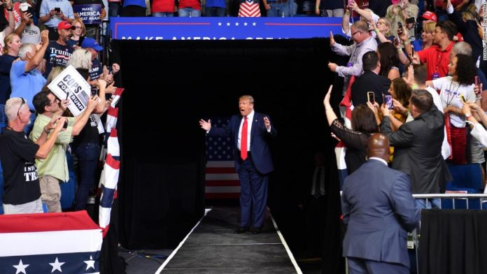 Trump held a completely indoor rally in Nevada about three months ago