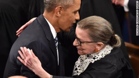 Obama has paid tribute to Ginsberg and said his seat should not be filled until after the next president is sworn in.