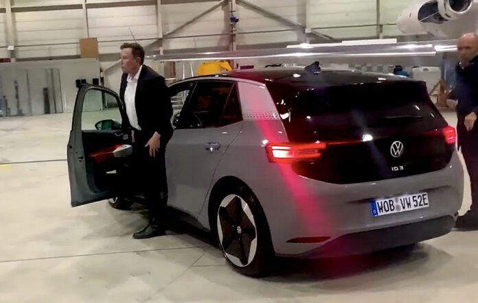 Volkswagen shares a test drive of Elon Musk's VW ID.3: 'It's great'