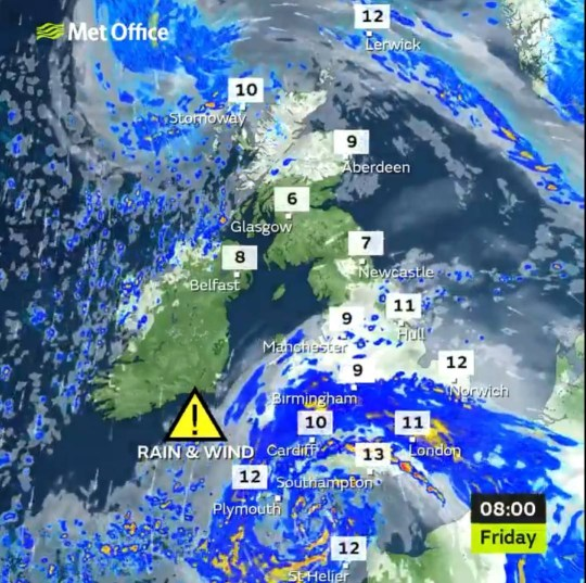 Today's weather forecast as Storm Alex hits