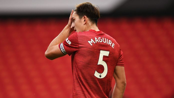Harry Maguire during Man Utd vs Spurs