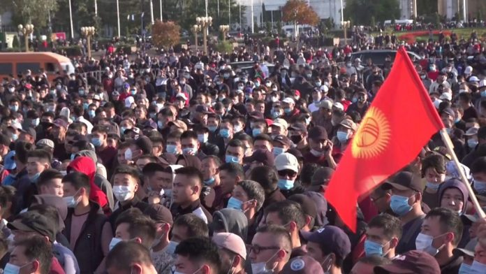 Kyrgyz election: Protesters storm parliament over vote-smuggling allegations
