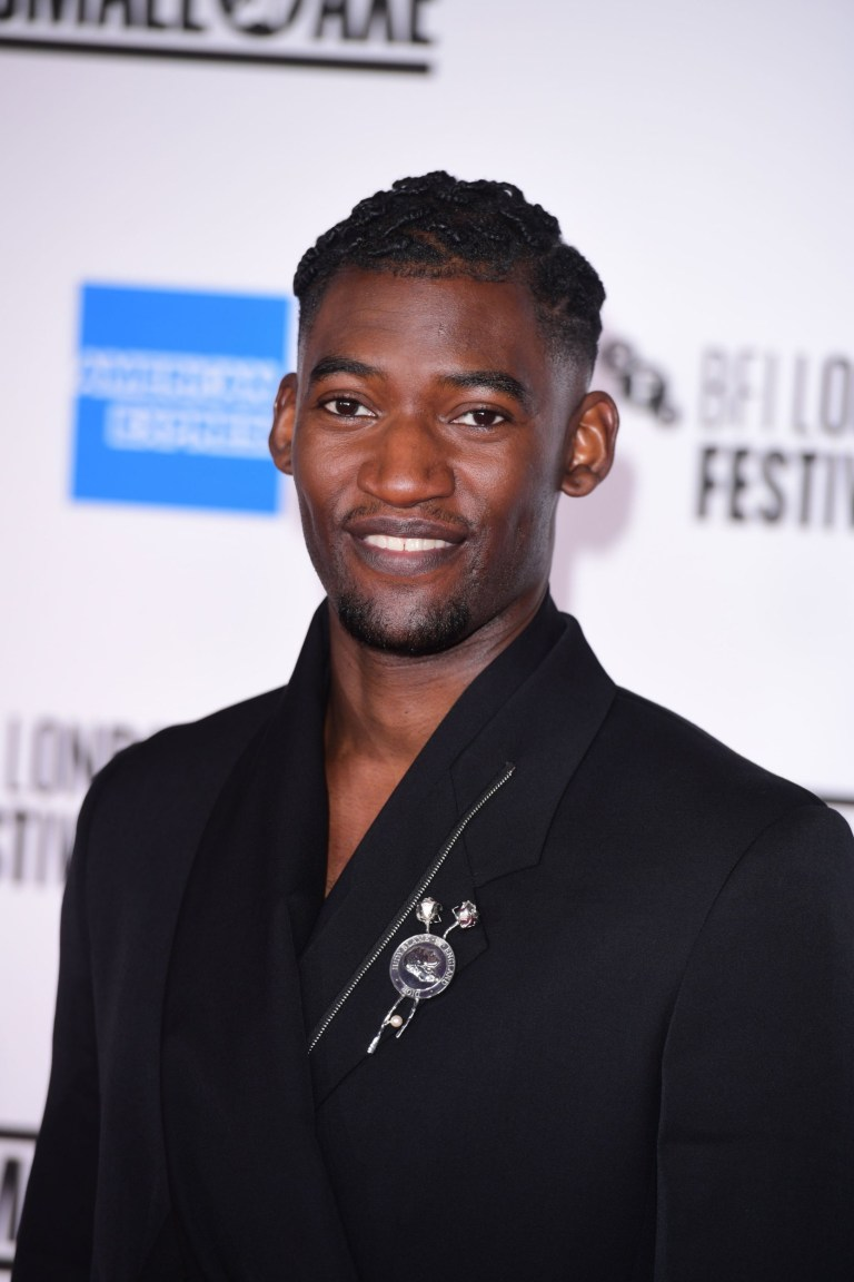 Actor Malachi Kirby attends the European premiere of Mangrove on the opening night of the BFI London Film Festival at BFI Southbank, London.  P.A.  Photo.  Picture Date: Wednesday 7, October, 2020. PA See story Showbiz LFF.  Photo credit should read: Ian West / PA Wire