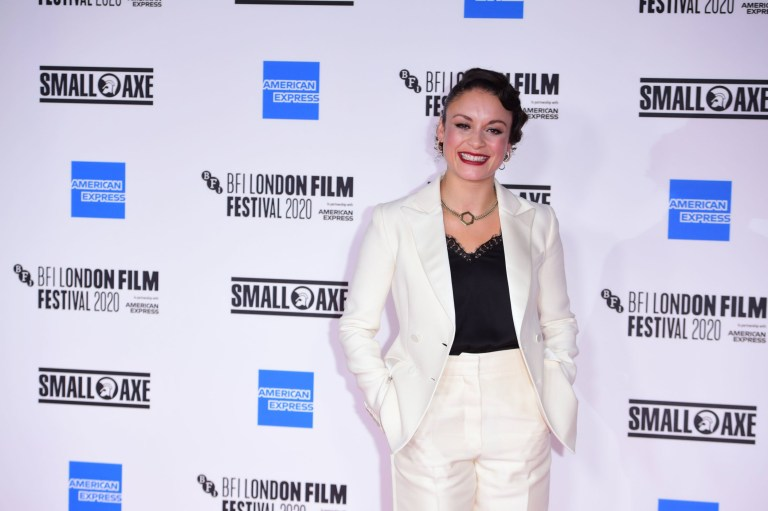 Actress Roshenda Sandal attends the European premiere of Mangrove on the opening night of the BFI London Film Festival at BFI Southbank, London.  P.A.  Photo.  Picture Date: Wednesday 7, October, 2020. PA See story Showbiz LFF.  Photo credit should read: Ian West / PA Wire