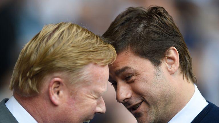 Ronald Komen (left) replaces Mauricio Pochettino at Southampton before becoming Everton manager