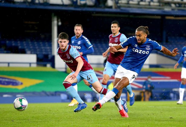 Everton's Dominic Curvert-Levine completes hat-trick in the Carabao Cup against West Ham