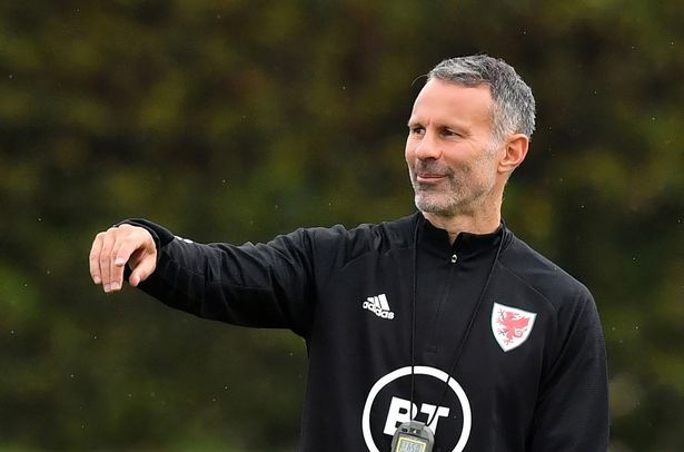 Wales head coach Ryan Giggs takes a training session