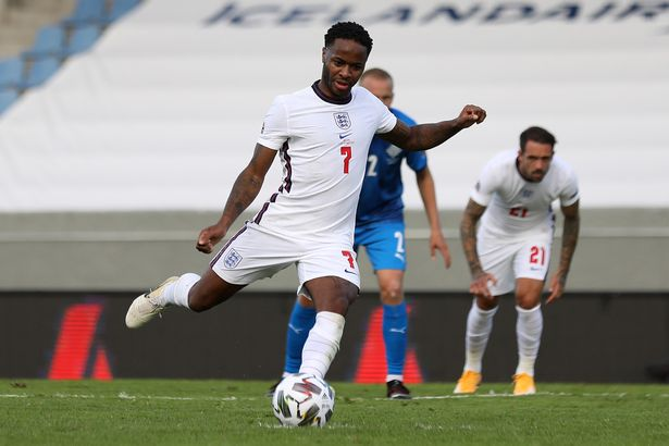 Rahim Sterling scored a penalty against Iceland