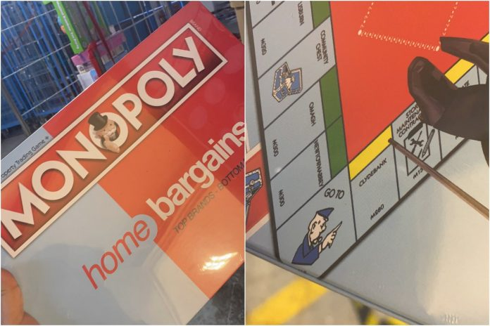 Monopoly boards, including Home Bargains, Clydebank and Rathergalan Stop, sell their own versions of the game.