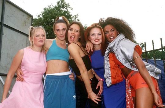 Compulsory Credit: Photo Stephen Sweet / REX / Shutterstock (261364i) The Spice Girls - Emma Bunton, Mel C, Victoria Adams, Gary H Hall Level and Mel B Capital Radio Summer Jam, Clap Common, London, UK - 1996