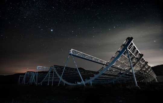 Chime Telescope at the Dominion Radio Astrophysical Observatory in British Columbia, Canada