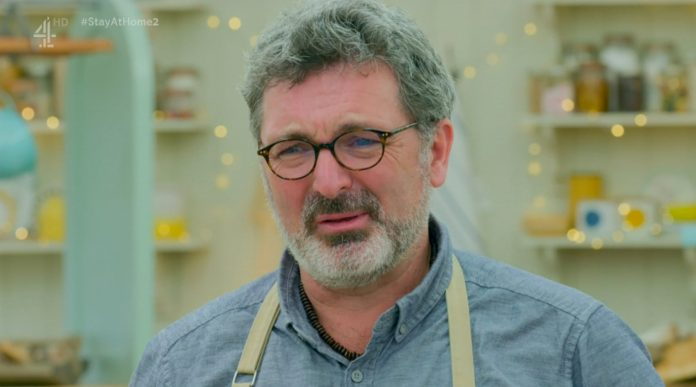 <p>Marc on Great British Bake Off</p>