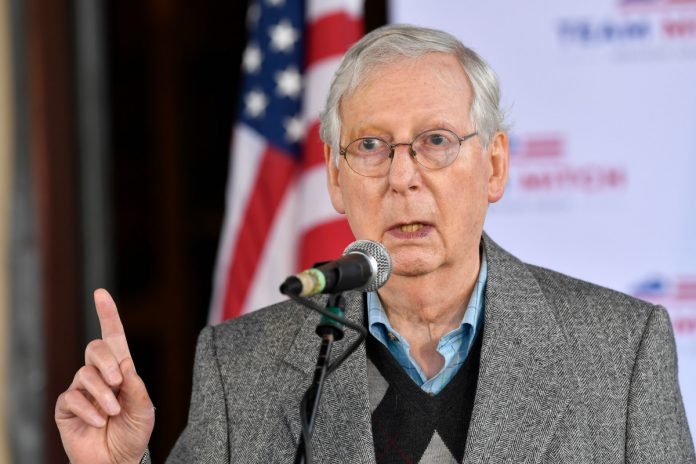 Mitch McConnell is sitting on the Senate seat from Kentucky