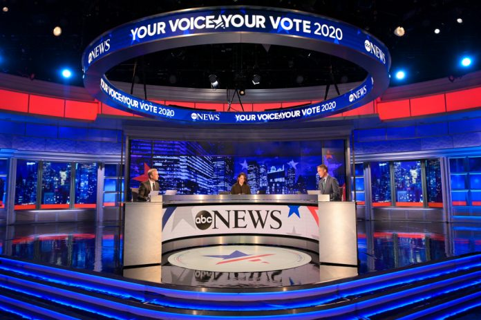 The 2016 election night ratings are down 40% in the initial broadcast numbers