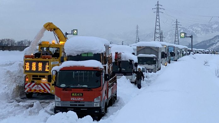 Heavy snowfall hits Japan, traps more than 1,000 cars on a highway: NPR