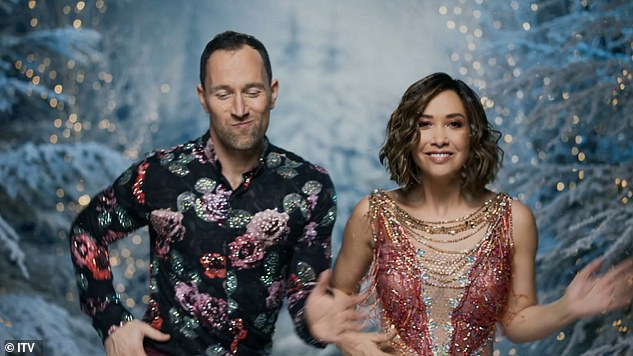 Fun: Former Here Se singer Mylene Klass, 42, performed some fun dance moves while wow in a video with her pro partner Lucas Rozeki.