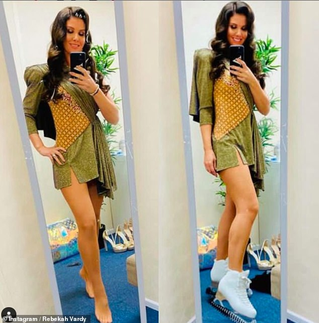 Glimpse peak!  In a backstage snap posted on Instagram on Friday, Rebakah Verdi showed off her toned figure in a beautiful green dress.