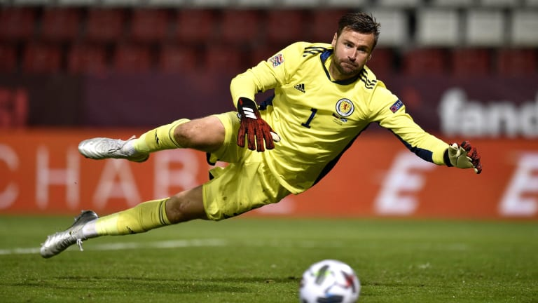 Scotland's David Marshall during a European qualifier match at Hampden Park, Glasgow.  Picture date: 9 September 2019.  Picture credit should read: Neil Hannah / Sportimuse Publication NOTxINxUK SPI-0190-0078