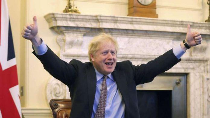Boris Johnson wants to celebrate Brexit trade deal