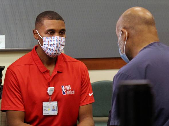 Doctor behind NBA 'bubble' gets COVID-19 vaccine - Sports News