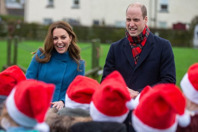 First stop in Scotland for Kate and William