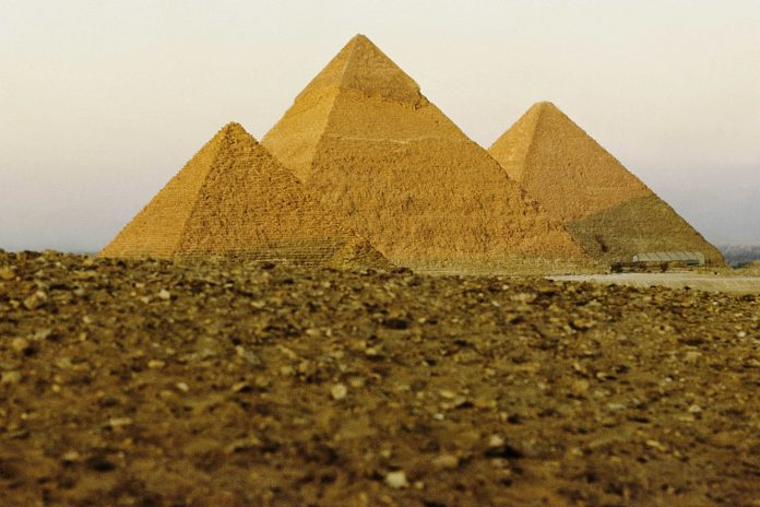 In the cigar box ... an artefact from the Great Pyramid of Giza