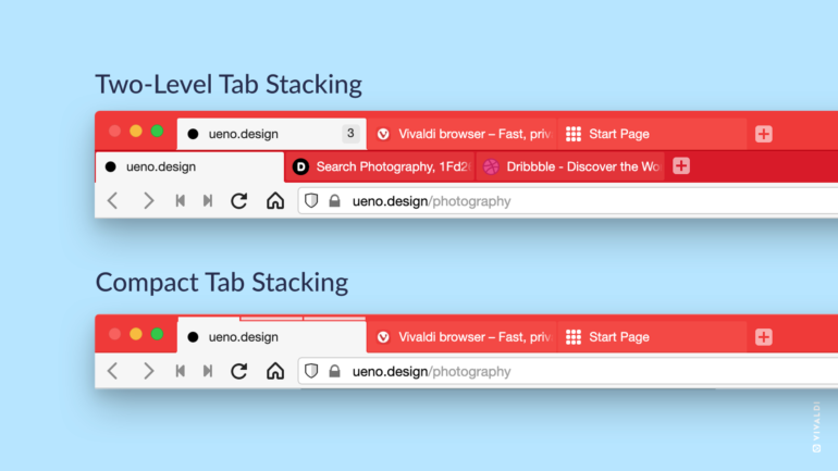 The Vivaldi browser gets two-tiered grouping for more convenient organization of large numbers of tabs