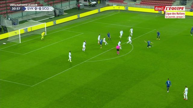 In the League of Nations, Slovakia won the qualifier's duel for the Euro against Scotland