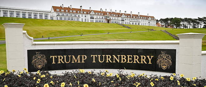 The Oval Office haul uses his official visit to the UK to spend the weekend at his club in Turnberry