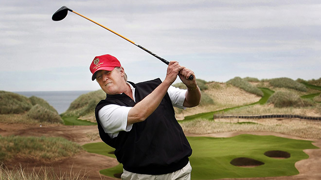 With its image, the golf world (too) distances itself from Donald Trump.