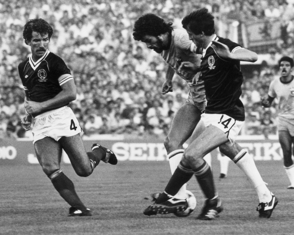 Scotland tried to stop Socrates in 1982 World Cup and failed