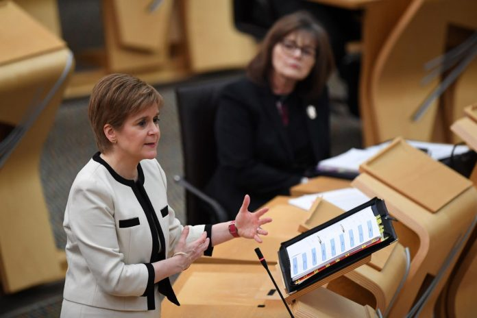 What did Nicola Sturgeon say in her speech today?