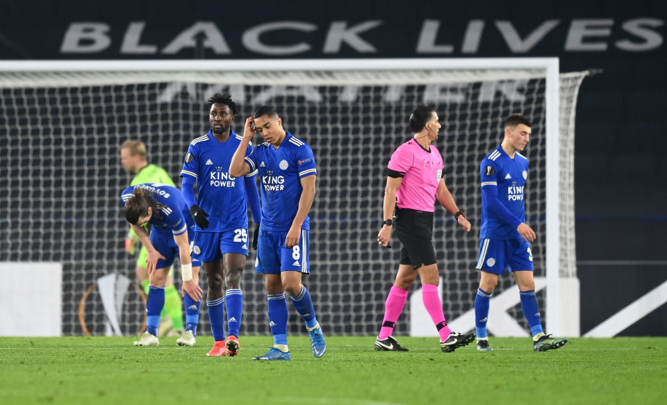 It was a disappointing European night for Leicester
