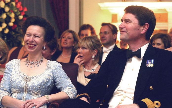 In the photo, Princess Anne reveals her decor