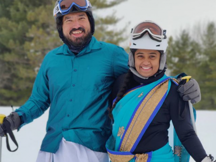 Indian Couple Skiing in Saree and Dhoti in US: WATCH VIDEO