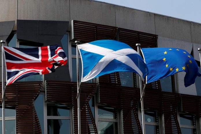 The EU flag will continue flying in Scotland